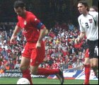 Ryan Giggs in action for Wales.