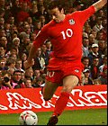 Simon Davies in action for Wales